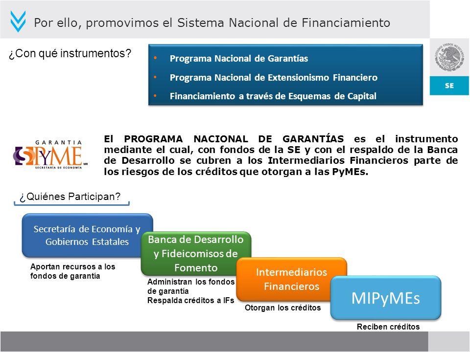 ¿ Quiénes Participan? Secretaría de Economía y Gobiernos Estatales Banca de Desarrollo y Fideicomisos de Fomento Intermediarios Financieros MIPyMEs Ap