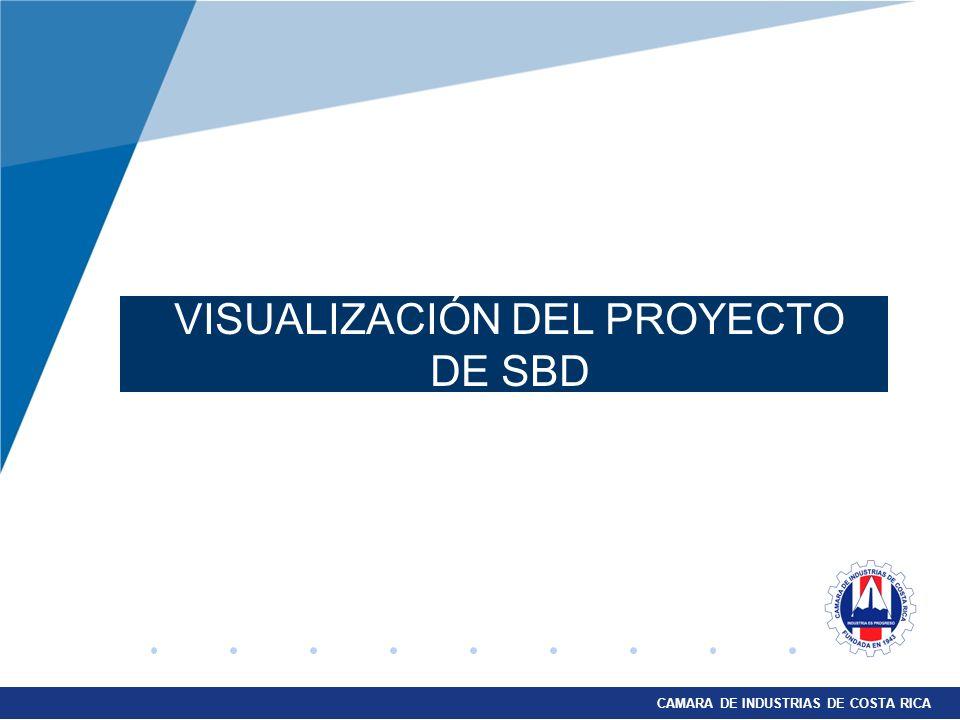 CAMARA DE INDUSTRIAS DE COSTA RICA VISUALIZACIÓN DEL PROYECTO DE SBD