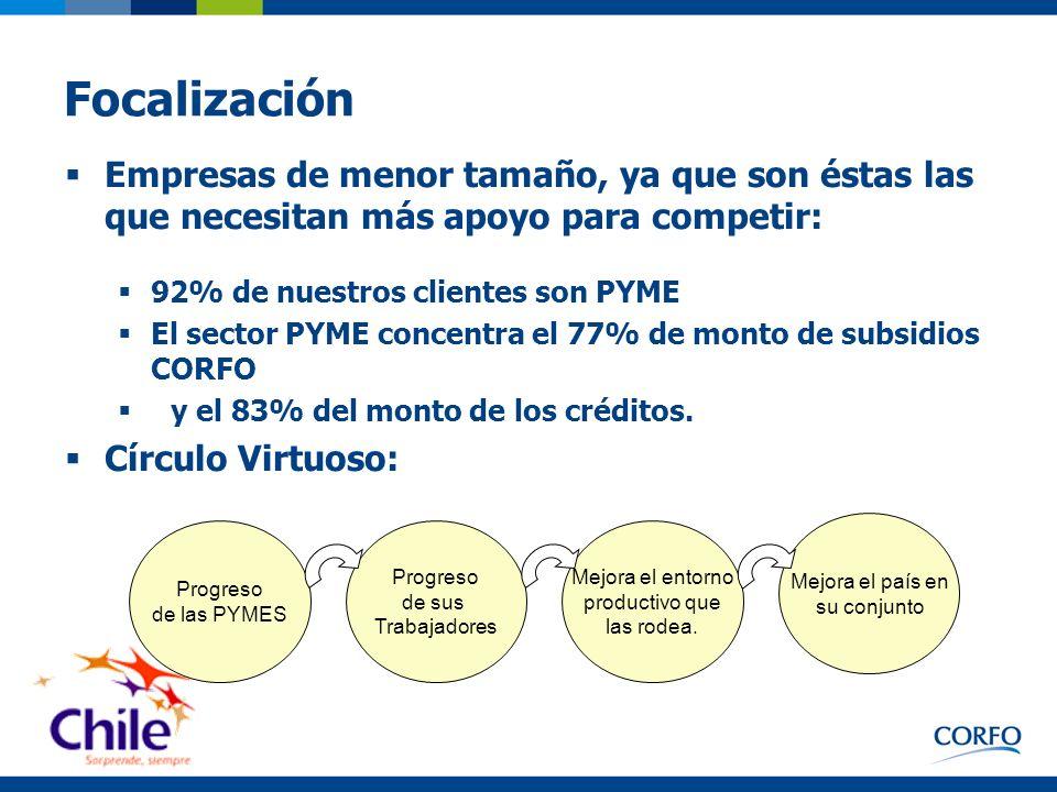 La tarea de Financiamiento de CORFO Objetivo: Complementar la operación del mercado financiero, facilitando el acceso a capital para aumentar la competitividad del sistema productivo Opera como banca de segundo piso.