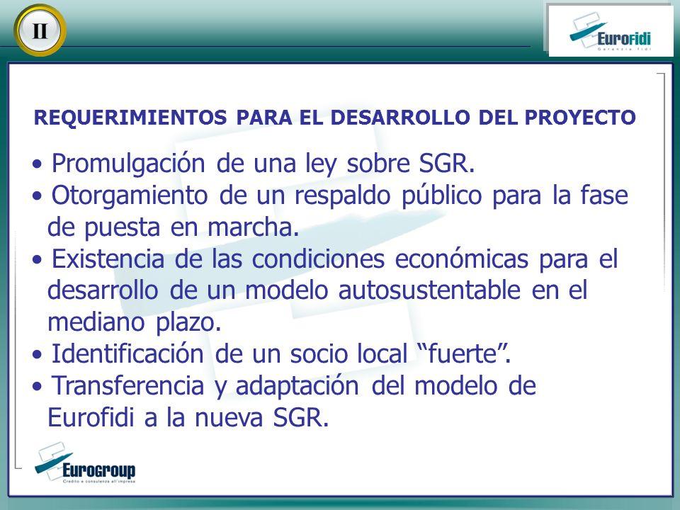 Promulgación de una ley sobre SGR.