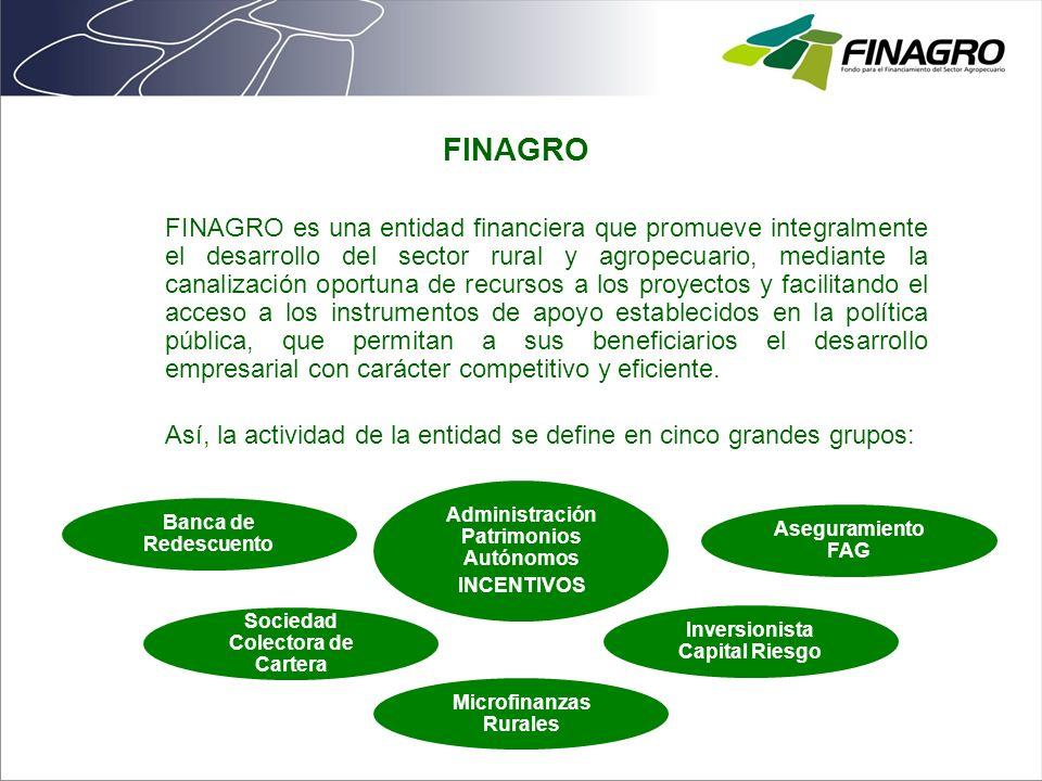 FINAGRO es una entidad financiera que promueve integralmente el desarrollo del sector rural y agropecuario, mediante la canalización oportuna de recur