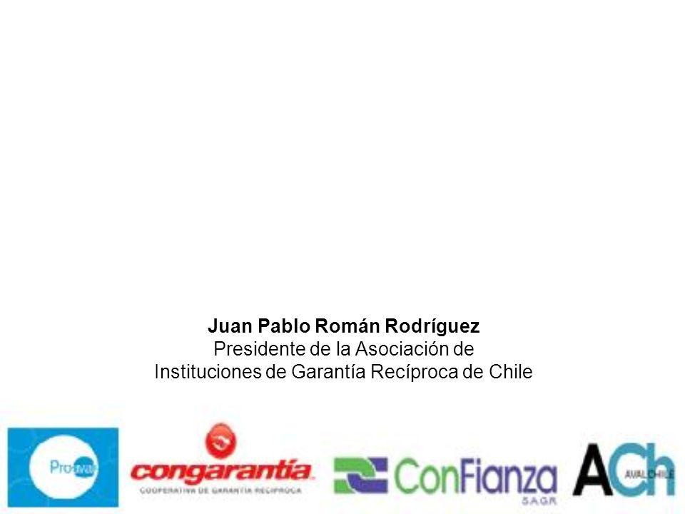 Juan Pablo Román Rodríguez Presidente de la Asociación de Instituciones de Garantía Recíproca de Chile