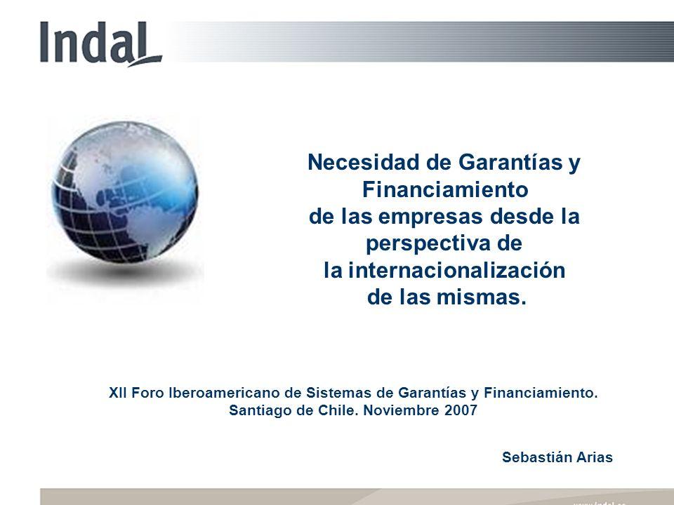 XII Foro Iberoamericano de Sistemas de Garantías y Financiamiento. Santiago de Chile. Noviembre 2007 Necesidad de Garantías y Financiamiento de las em