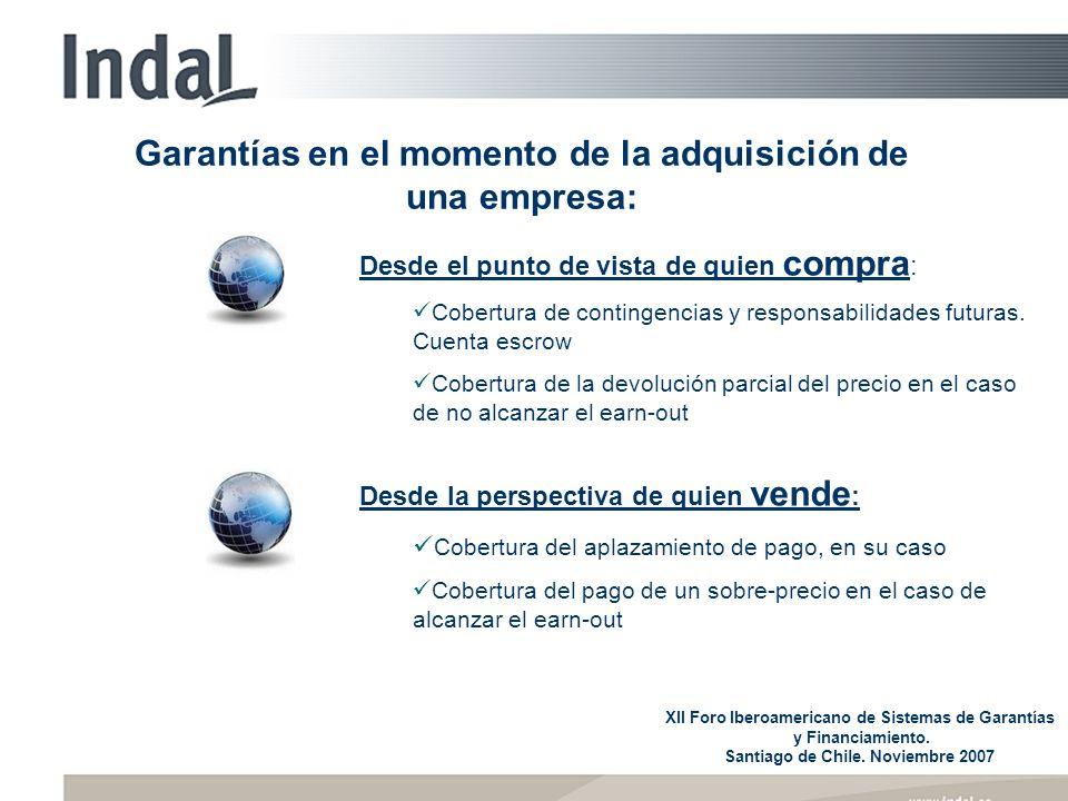 Garantías en el momento de la adquisición de una empresa: Desde el punto de vista de quien compra : Cobertura de contingencias y responsabilidades fut