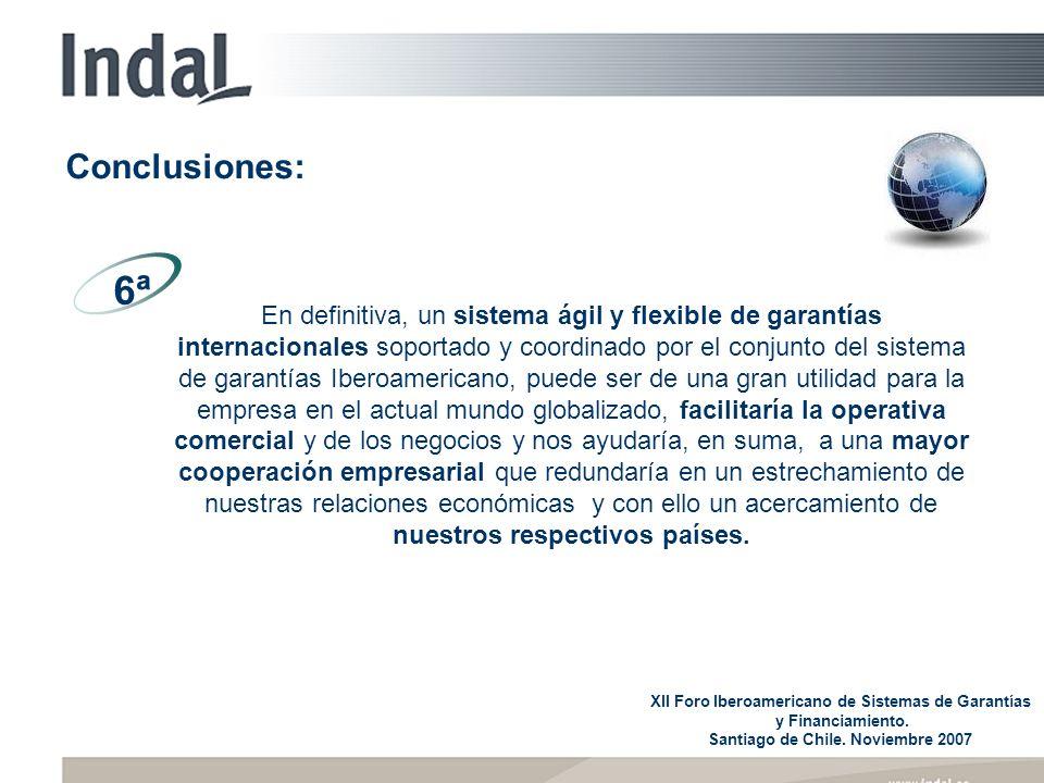 En definitiva, un sistema ágil y flexible de garantías internacionales soportado y coordinado por el conjunto del sistema de garantías Iberoamericano,