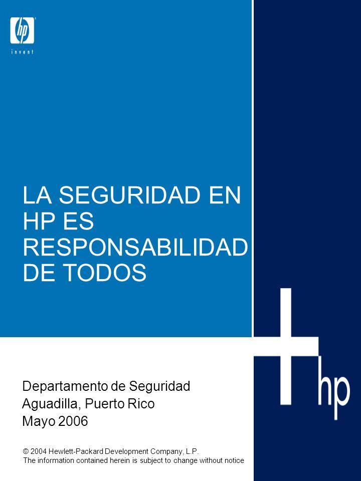 Mayo 2006Presentación de Seguridad12 Seguridad: Se entregará copia de la política Corporativa de Seguridad y una guía informativa de seguridad.