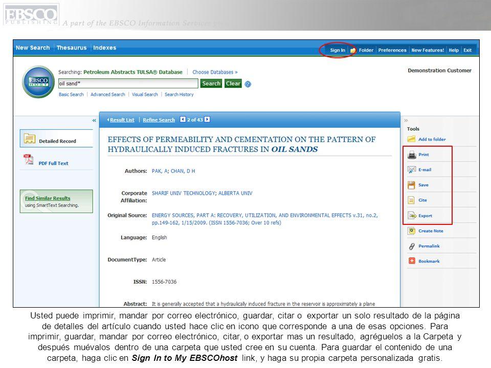 El Thesaurus (Tesauro) muestra una lista de términos o vocabulario normalizado que responde al Petroleum Abstracts que ayudan en buscar en la base de datos de manera mas efectiva.