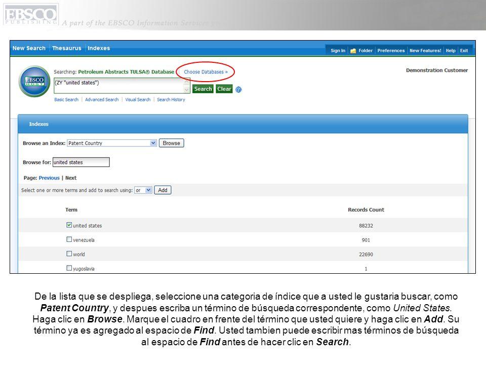 La ventana que dice Choose Databases aparece.