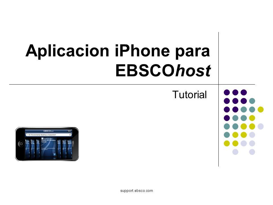 support.ebsco.com Aplicacion iPhone para EBSCOhost Tutorial