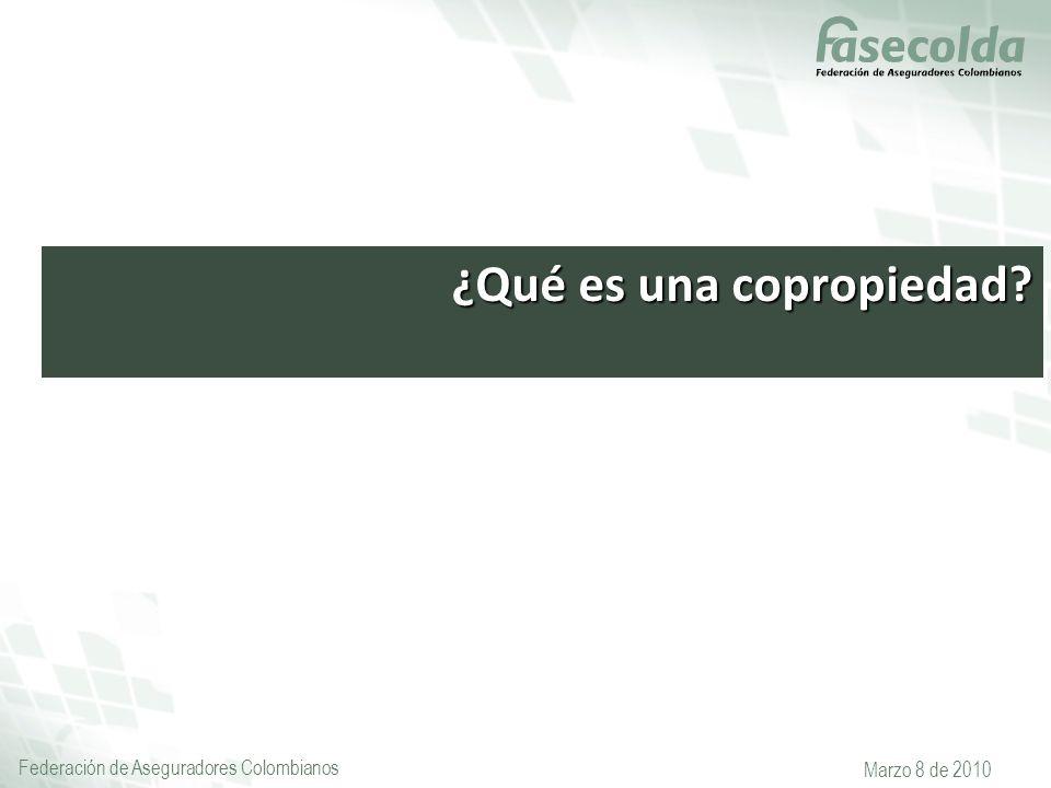 Federación de Aseguradores Colombianos Marzo 8 de 2010 ¿Qué es una copropiedad?