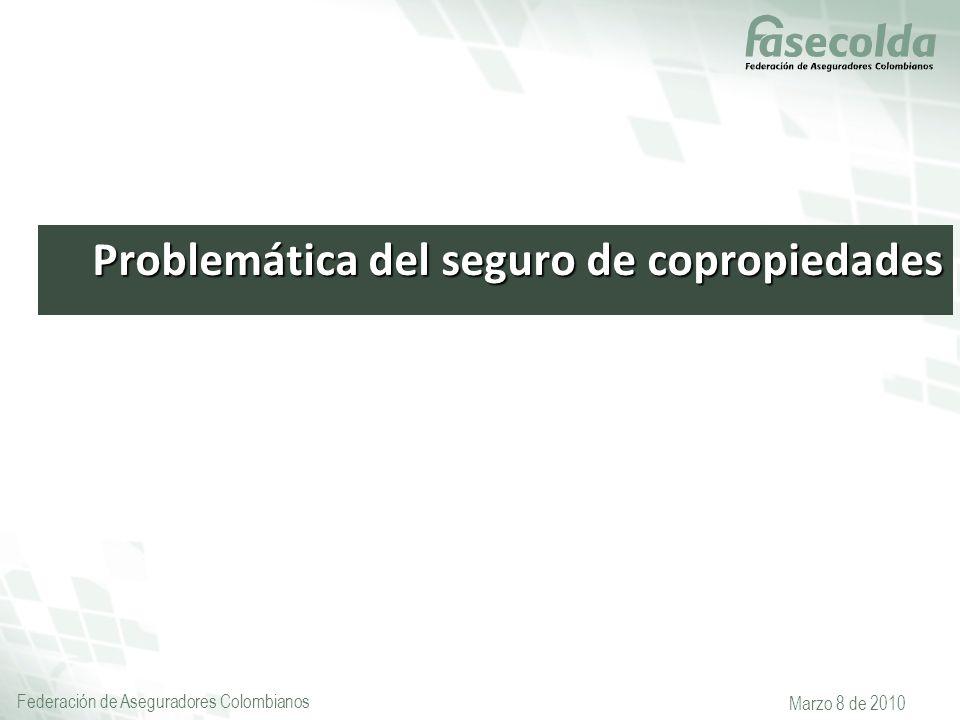 Federación de Aseguradores Colombianos Marzo 8 de 2010 Problemática del seguro de copropiedades