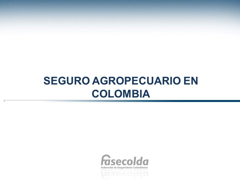 Novedades en normatividad del seguro agropecuario Según la Resolución I de 2012 de la Comisión Nacional de Crédito Agropecuario para Seguro Agropecuario, se decidió estudiar un plan de incentivos para poder aumentar la contratación del seguro agropecuario en Colombia.