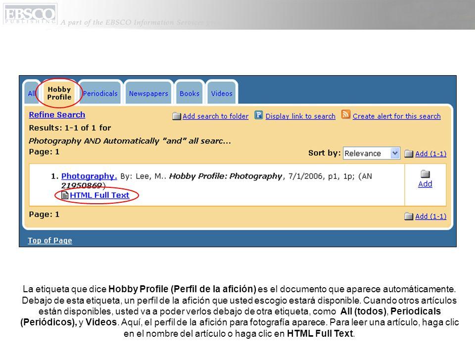 En la citación del artículo, usted puede mandar por correo electrónico, imprimir, guardar, o exportar el artículo.