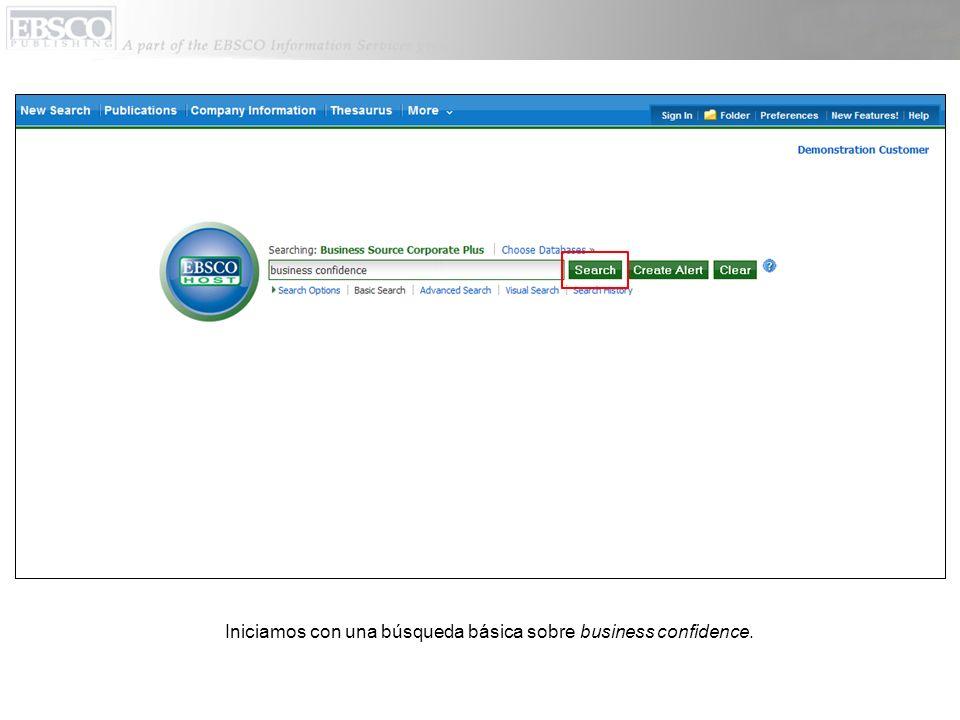 Iniciamos con una búsqueda básica sobre business confidence.