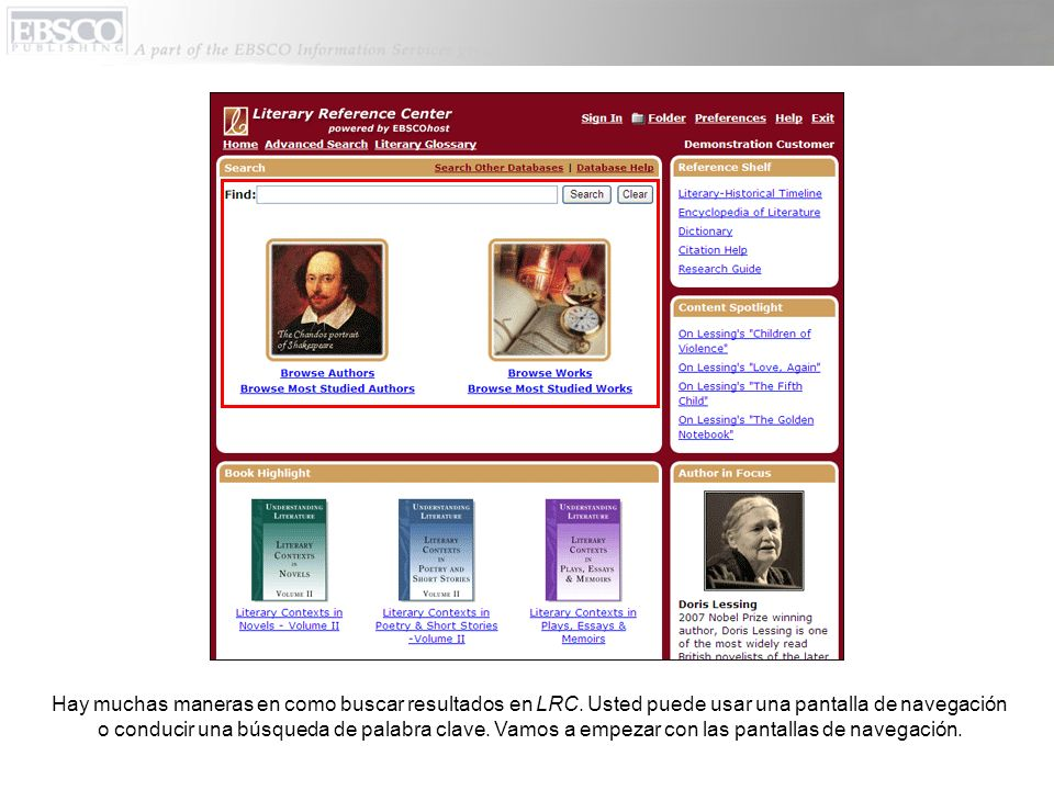Hay muchas maneras en como buscar resultados en LRC. Usted puede usar una pantalla de navegación o conducir una búsqueda de palabra clave. Vamos a emp