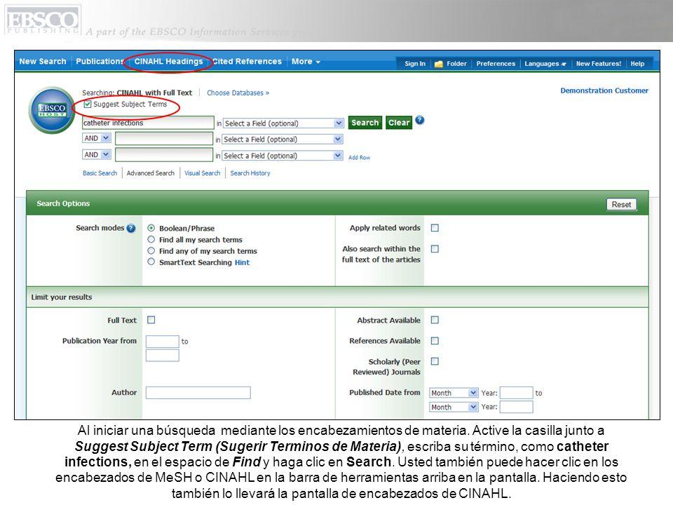 Haga clic en Help (Ayuda) para ver el sistema completo sobre ayuda.