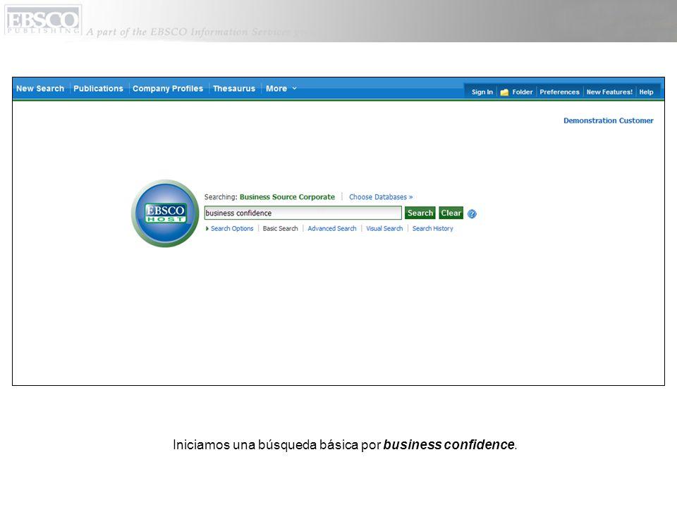 Iniciamos una búsqueda básica por business confidence.