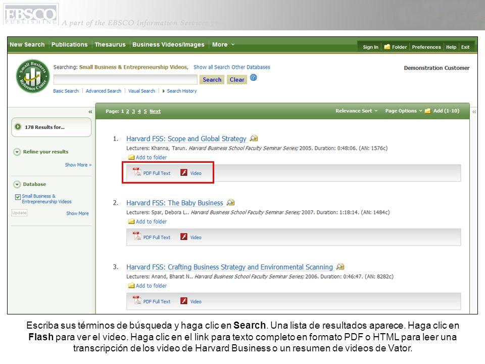 Escriba sus términos de búsqueda y haga clic en Search.