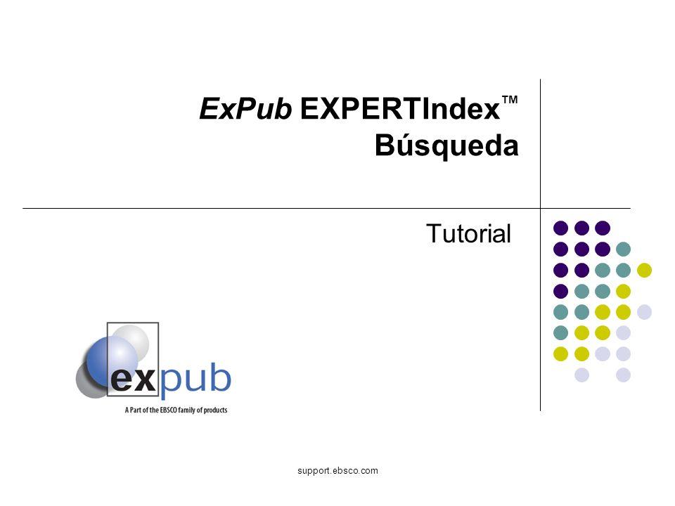 support.ebsco.com ExPub EXPERTIndex Búsqueda Tutorial