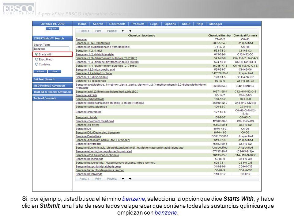 Al seleccionar un documento individual y hacer clic en su nombre, el texto completo del documento aparece.