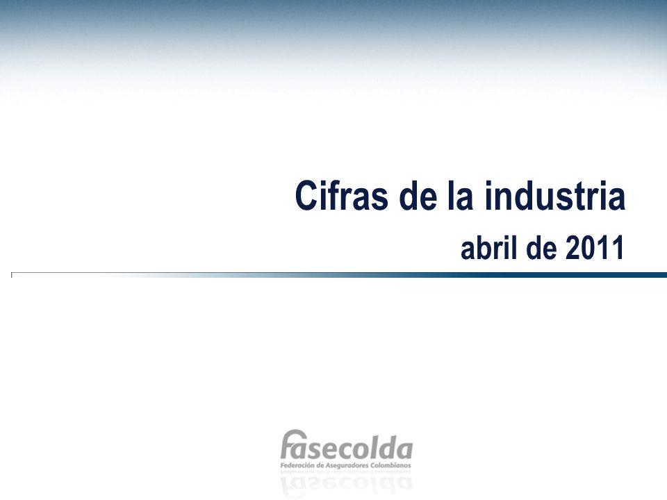 Cifras de la industria abril de 2011