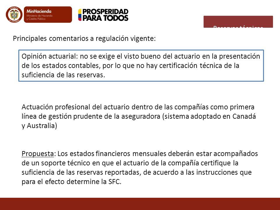 Opinión actuarial: no se exige el visto bueno del actuario en la presentación de los estados contables, por lo que no hay certificación técnica de la