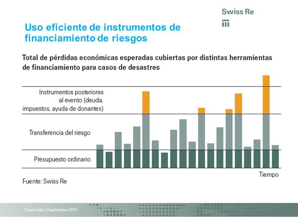 Fasecolda | Septiembre 2011 Uso eficiente de instrumentos de financiamiento de riesgos