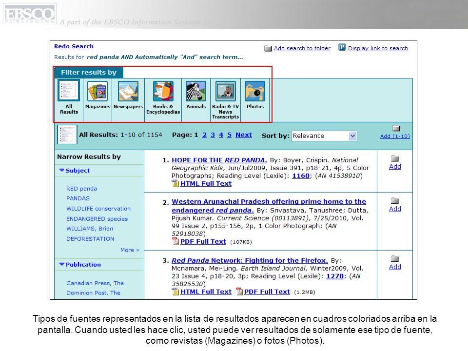 La pantalla de búsqueda detallada incluye la lista debajo de Search By Topic (Buscar por Tema).