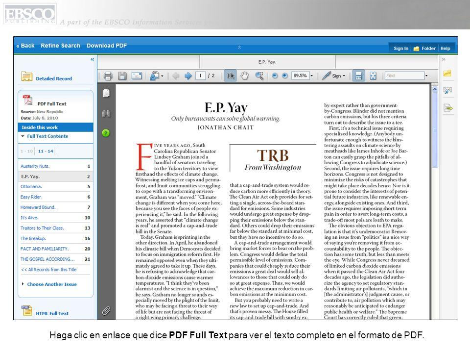Haga clic en enlace que dice PDF Full Text para ver el texto completo en el formato de PDF.