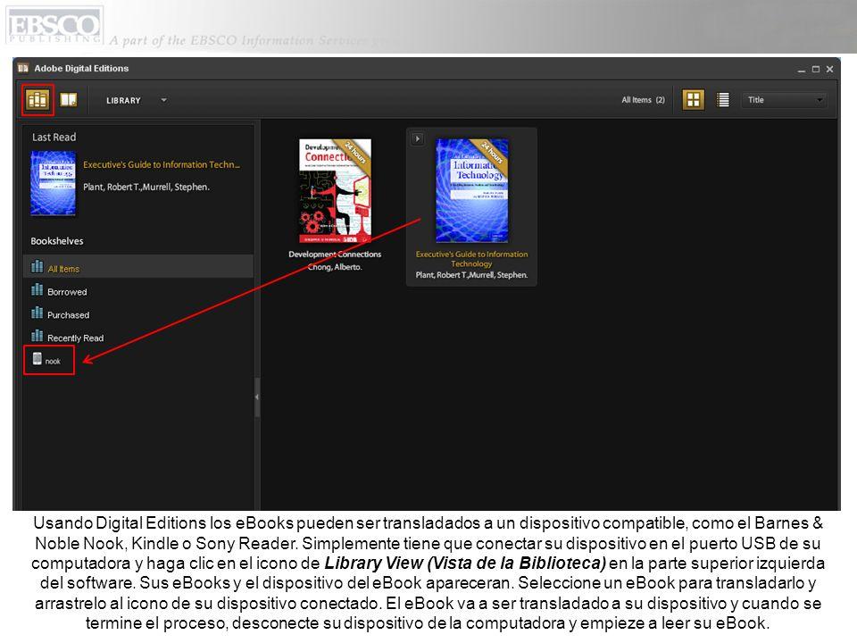 Si el eBook que usted ha escogido esta siendo usado en el momento que usted quiere descargarlo, y solo si su biblioteca tiene la opción de Hold (Reserva), usted tendra la oportunidad de reservarlo para que cuando la persona deje de utilizarlo, usted lo pueda descargar.