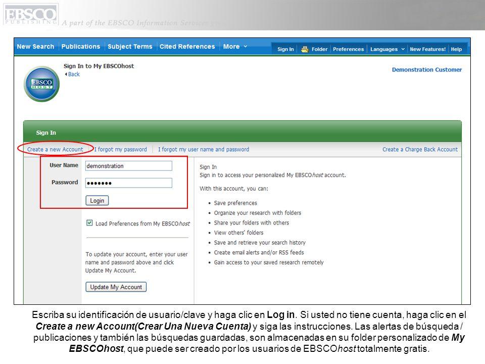 Escriba su identificación de usuario/clave y haga clic en Log in.