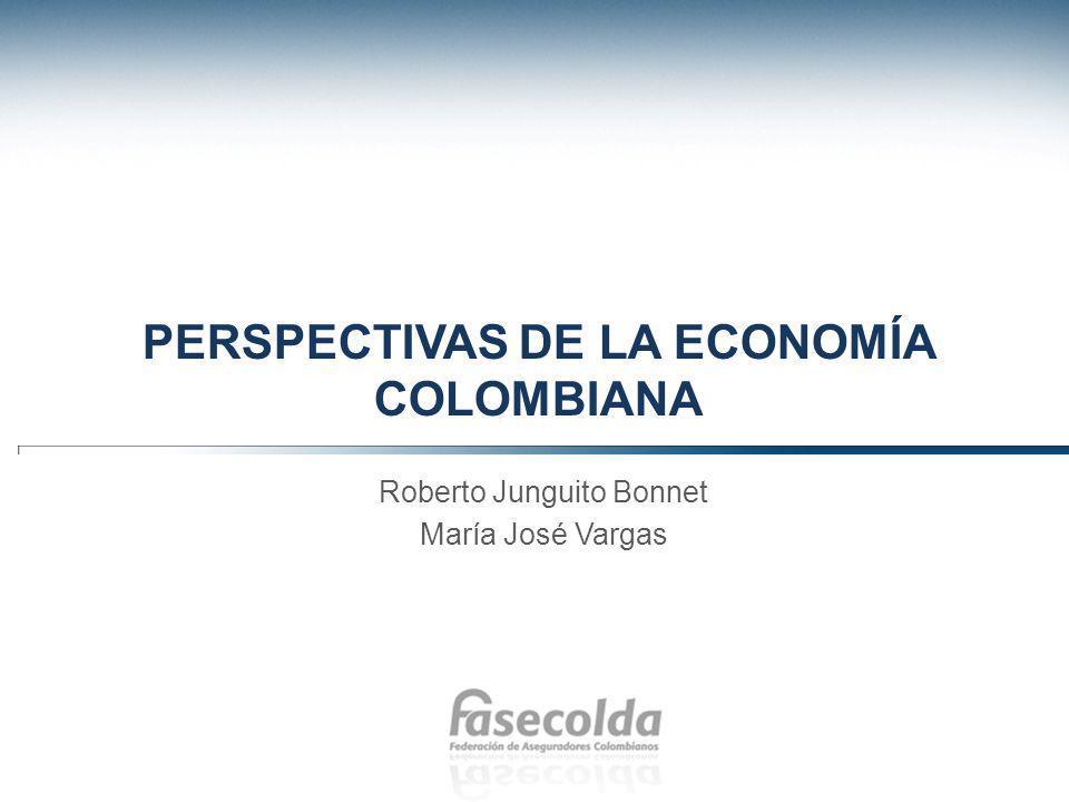 PERSPECTIVAS DE LA ECONOMÍA COLOMBIANA Roberto Junguito Bonnet María José Vargas