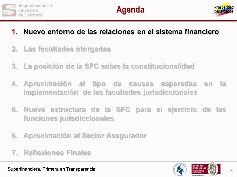5 Nuevo entorno para las relaciones en el SF 2000 Crisis financiera local.
