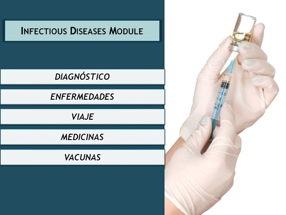 DIAGNÓSTICO ENFERMEDADES VIAJE MEDICINAS VACUNAS I NFECTIOUS D ISEASES M ODULE