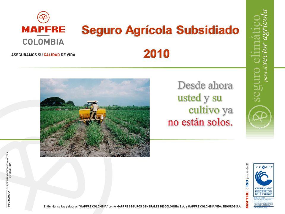 Seguro Agrícola Subsidiado 2010