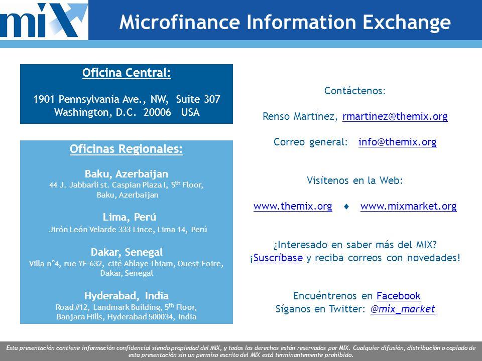 Esta presentación contiene información confidencial siendo propiedad del MIX, y todos los derechos están reservados por MIX.