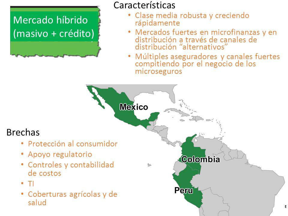 Características Clase media robusta y creciendo rápidamente Mercados fuertes en microfinanzas y en distribución a través de canales de distribución al