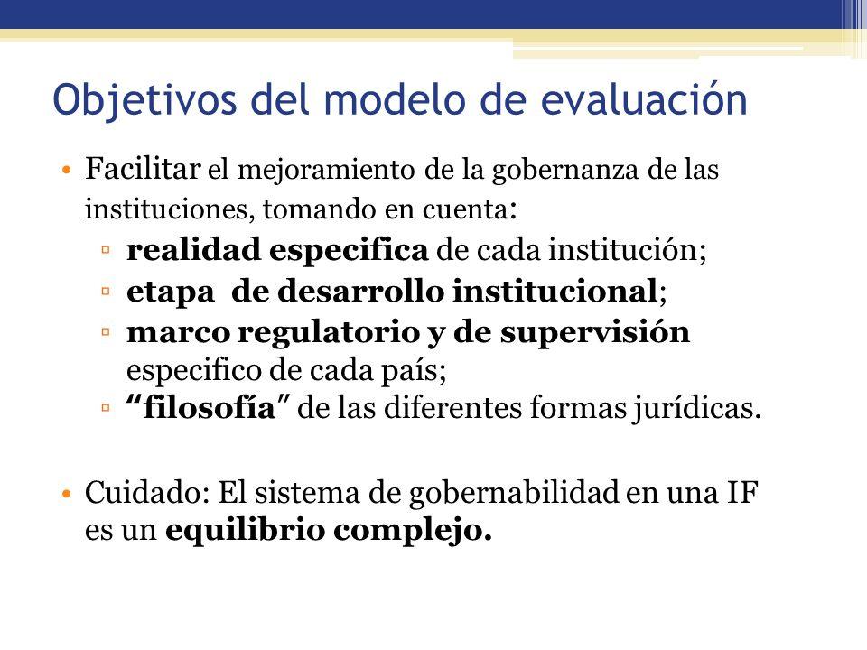Objetivos del modelo de evaluación 49 Facilitar el mejoramiento de la gobernanza de las instituciones, tomando en cuenta : realidad especifica de cada