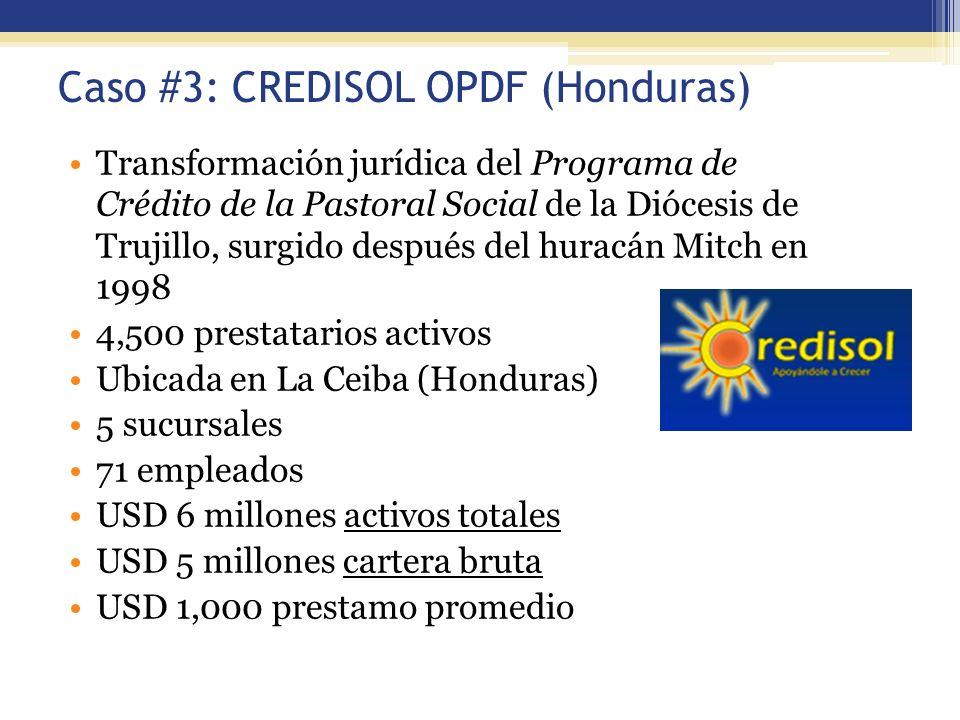 Caso #3: CREDISOL OPDF (Honduras) Transformación jurídica del Programa de Crédito de la Pastoral Social de la Diócesis de Trujillo, surgido después de