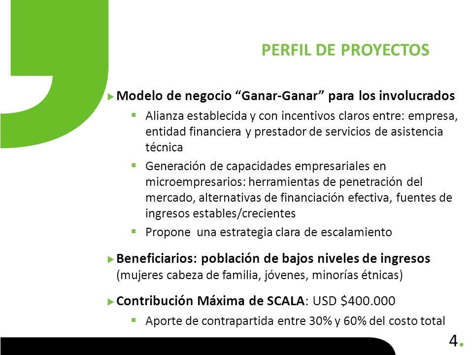 4.4. Modelo de negocio Ganar-Ganar para los involucrados Alianza establecida y con incentivos claros entre: empresa, entidad financiera y prestador de