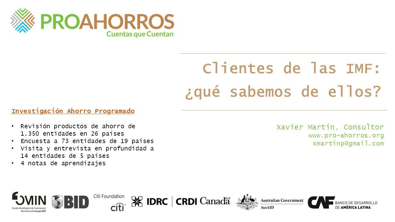 Heterogéneo ¿Cuál es el perfil de un cliente de microfinanzas.