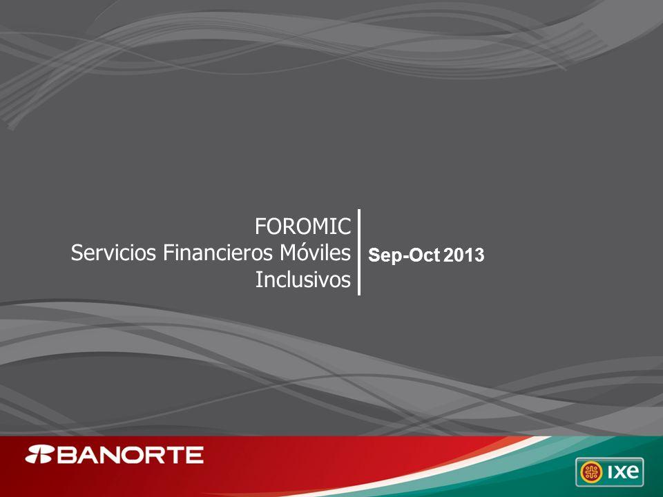 Sep-Oct 2013 FOROMIC Servicios Financieros Móviles Inclusivos