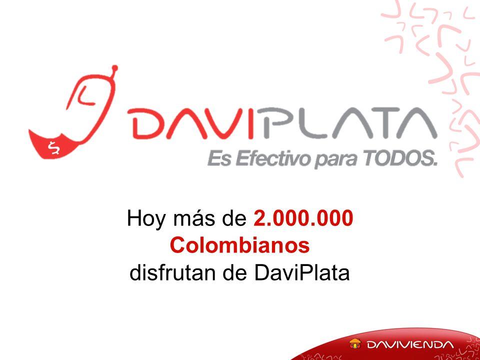 Hoy más de 2.000.000 Colombianos disfrutan de DaviPlata
