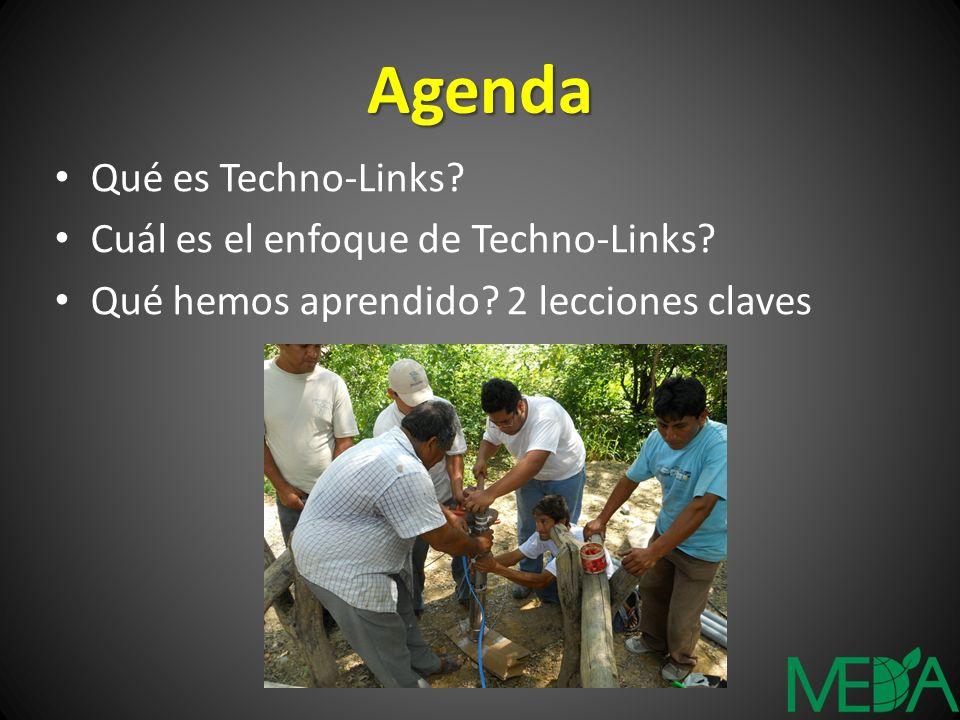 Agenda Qué es Techno-Links? Cuál es el enfoque de Techno-Links? Qué hemos aprendido? 2 lecciones claves