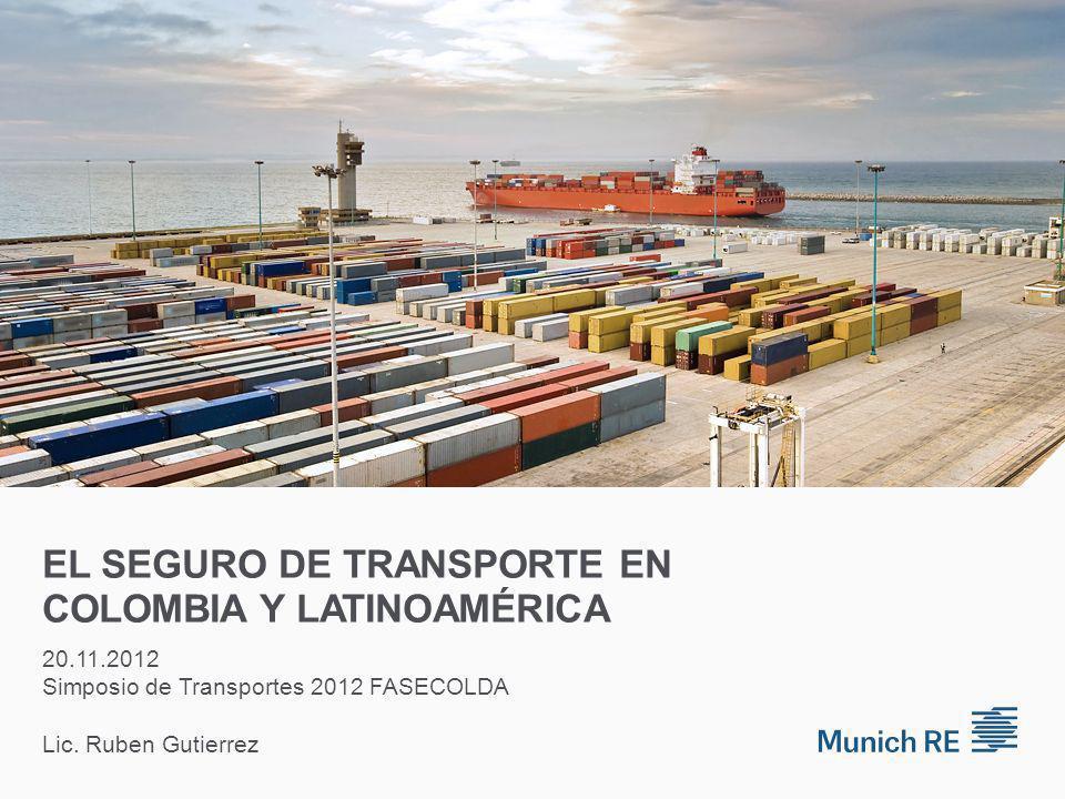 EL SEGURO DE TRANSPORTE EN COLOMBIA Y LATINOAMÉRICA 20.11.2012 Simposio de Transportes 2012 FASECOLDA Lic.