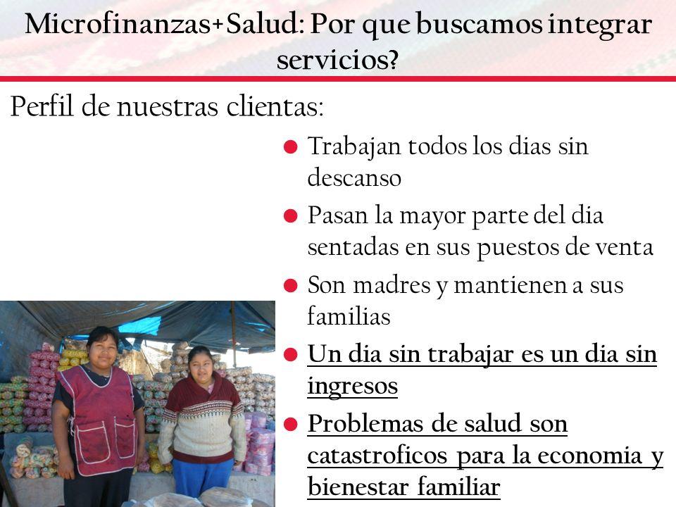 Microfinanzas+Salud: Por que buscamos integrar servicios.