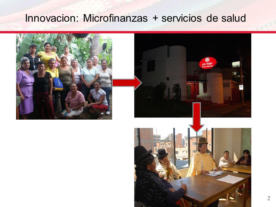 Innovacion: Microfinanzas + servicios de salud 2