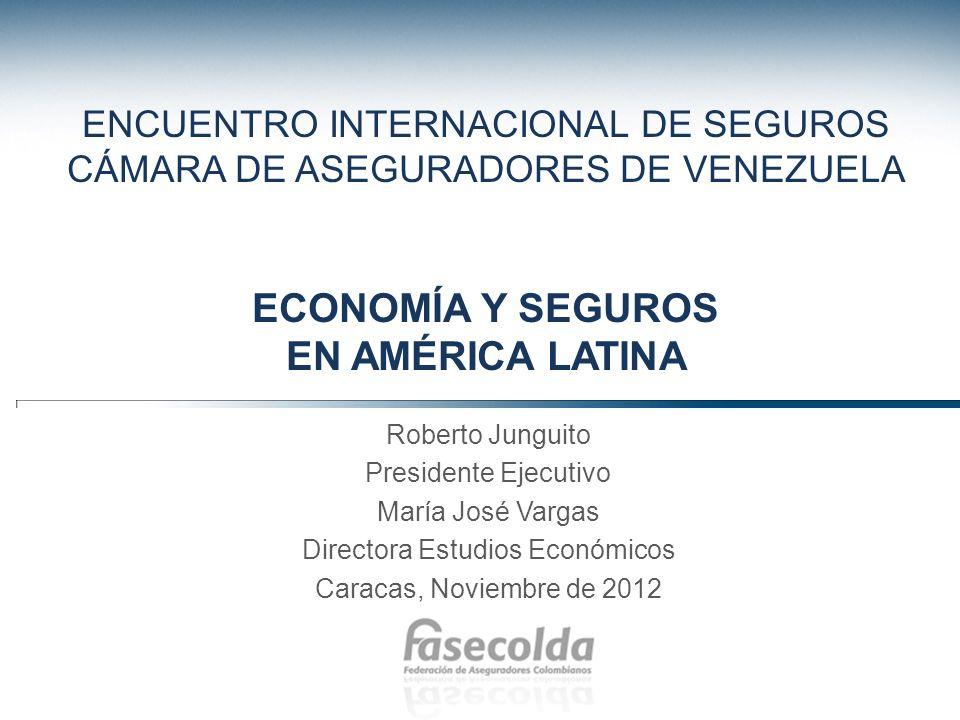 Agenda 1.Los seguros en América Latina 2.La economía y su impacto sobre la industria aseguradora 3.Perspectivas económicas y del sector asegurador 4.Reflexiones finales