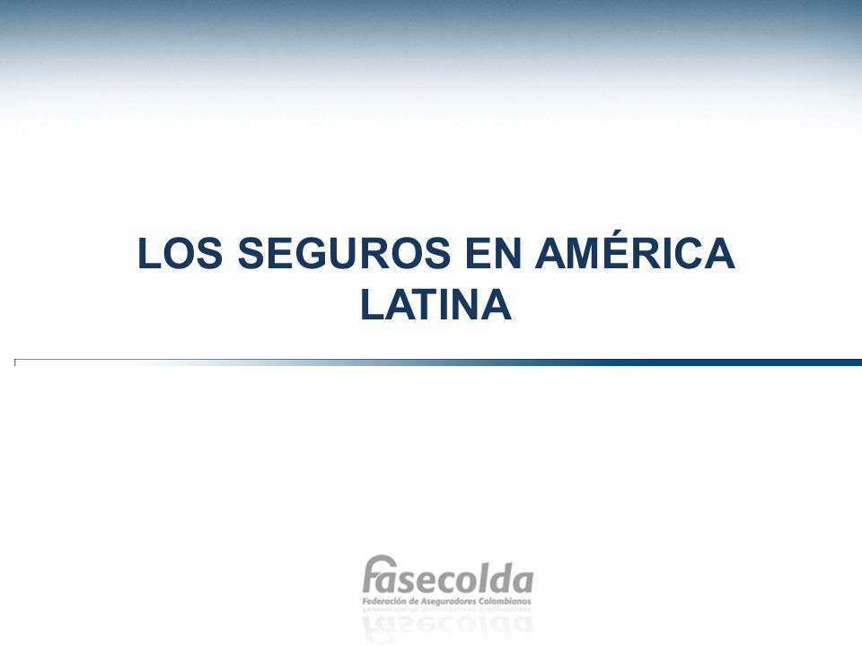 Seguros en América Latina Swiss Re Sigma Database El avance en la participación de América Latina en el negocio asegurador mundial se ha dado durante la última década.