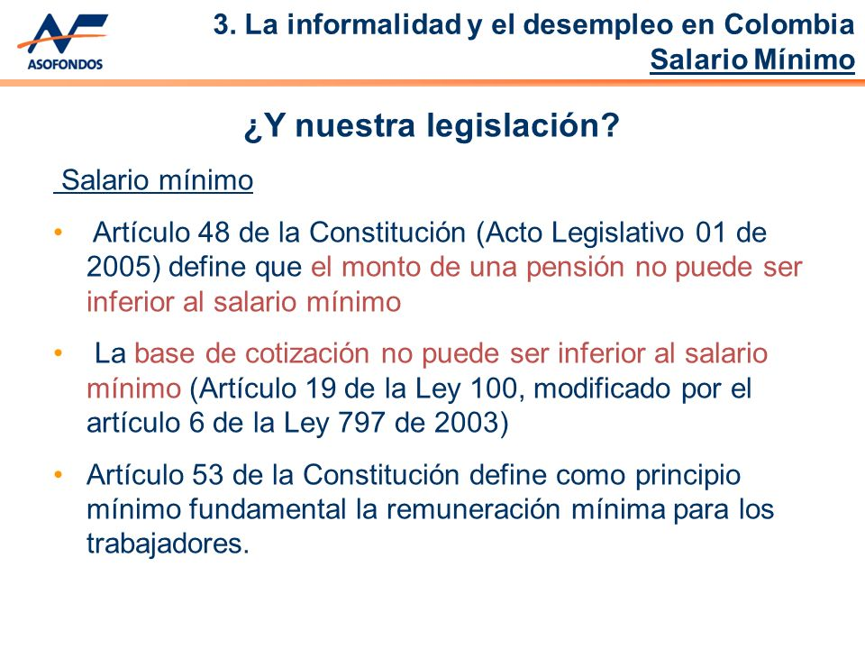 ¿Y nuestra legislación.
